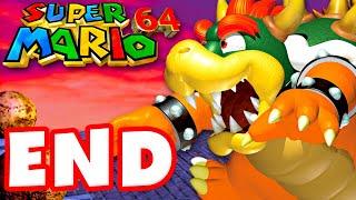 Super Mario 64 - Gameplay Walkthrough Part 16 - Final Boss and Ending! (Super Mario 3D All Stars)