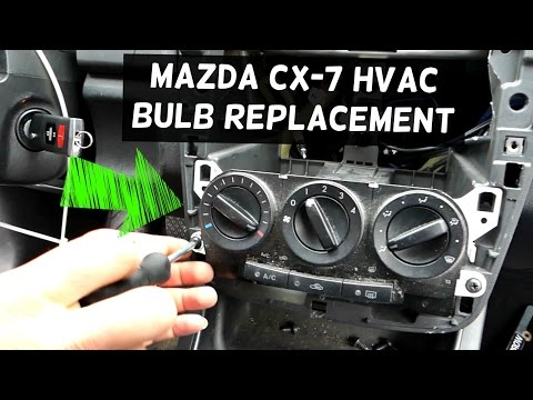 MAZDA CX-7 DASH LIGHT HEATER CONTROL LIGHT BULB NOT WORKING REPLACEMENT CX7