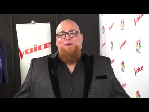 Jesse Larson reacts after earning 4th place on The Voice