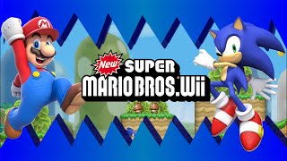 Sonic in New Super Mario Bros  Wii  Release Trailer [Beta]