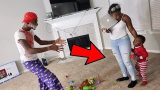 SCARE PRANK ON 2 YEAR OLD!!! FT. AR