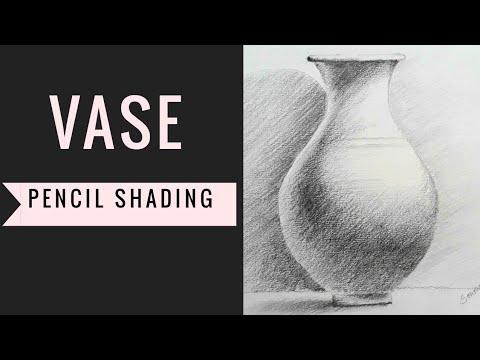 pencil shading vase time laps #53