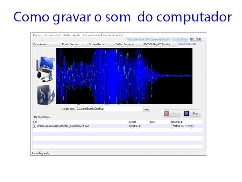 como gravar audio no windows 8.1