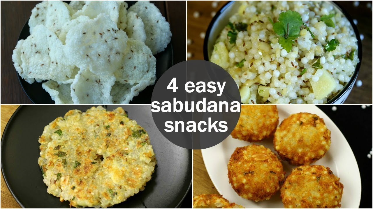 4 easy sabudana snacks recipes for fasting | healthy sago recipes | sabudana recipes for fast