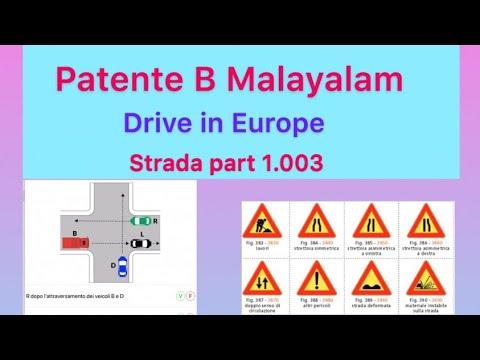 Patente B Malayalam Chapter 1 Part 3 Strada Teoria  Quiz  1.003