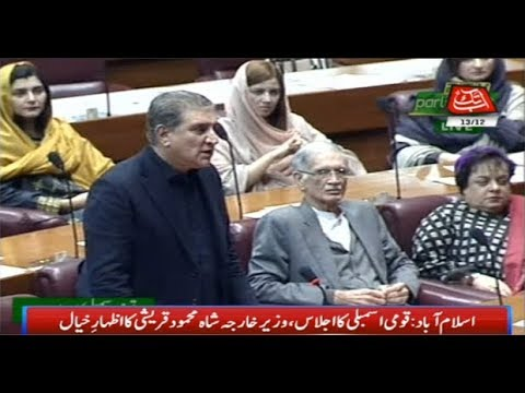 Shah Mehmood Qureshi Addresses NA Session