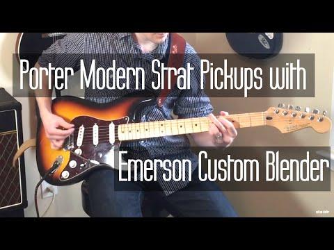 Porter Pickups Modern Strat with Emerson Custom Blender - YouTube