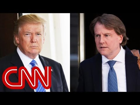 Trump: McGahn to leave job as White House counsel