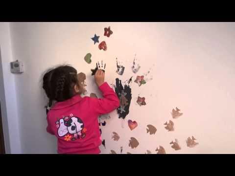 pictam peretii cu stelute