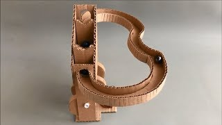 DIY Stepwise Marble Machine from Cardboard