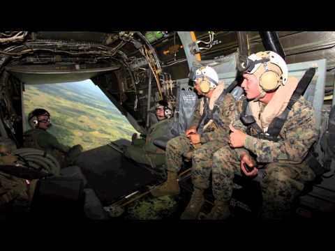Marine Corps Ospreys train in Belize