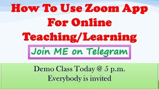 How to use zoom app| online teaching app |Class 12th batches starts