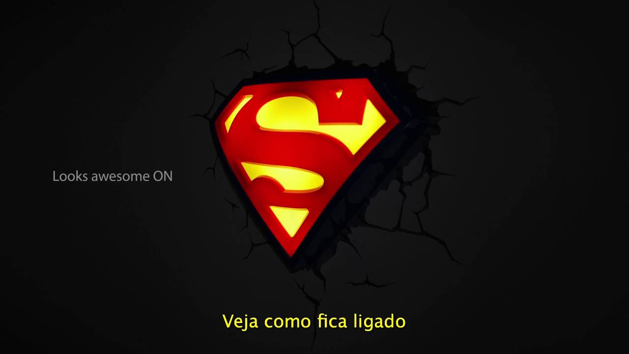 c578c9bf34 Luminária 3D Light FX Logo Superman - YouTube