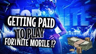 Joined #1 Mobile Team // Paid to Play Fortnite Mobile?! Fastest Mobile Builder Highlights