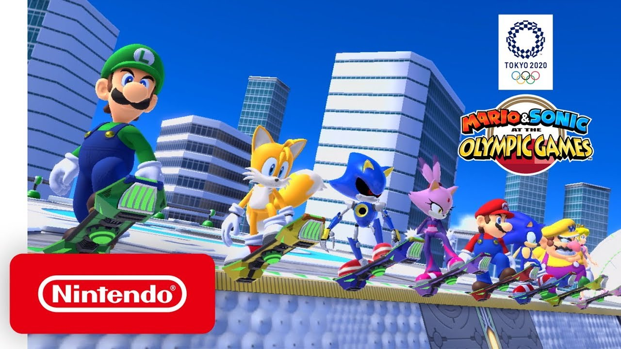 New Nintendo Switch Games 2020.Mario Sonic At The Olympic Games Tokyo 2020 Dream Events Reveal Trailer Nintendo Switch