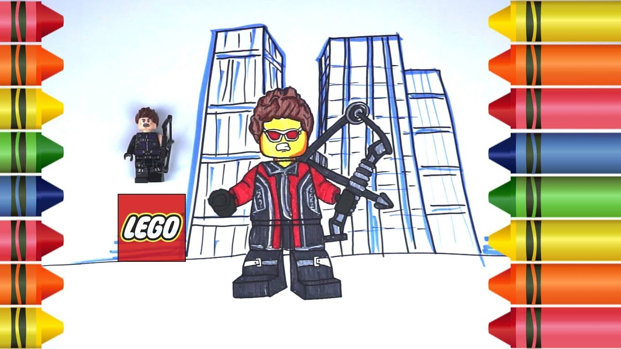 How to Draw LEGO Hawkeye Avenger