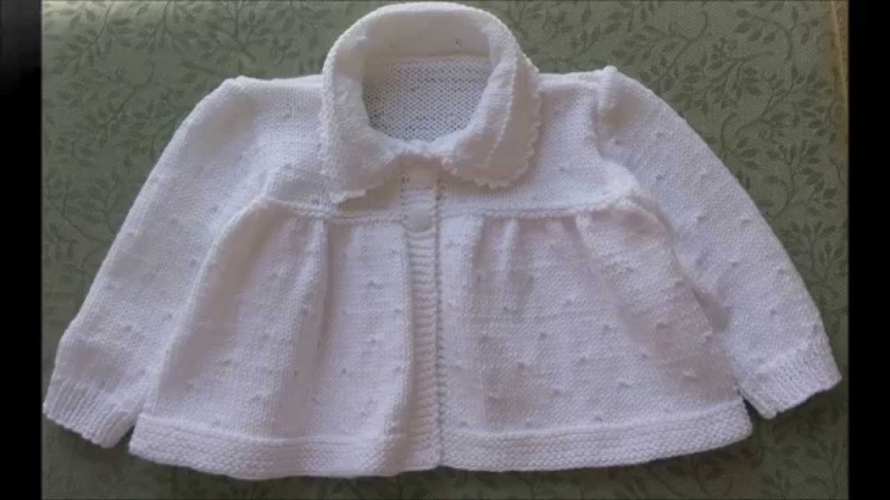 e190a58d87b4 Knitted Baby Matinee Coat - YouTube