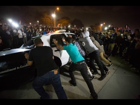 Chaos in Costa Mesa After Trump Rally