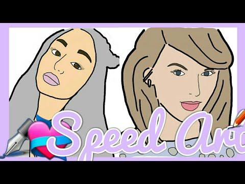 ARIANA GRANDE, TAYLOR SWIFT and GAL GADOT | Speed Art ✏