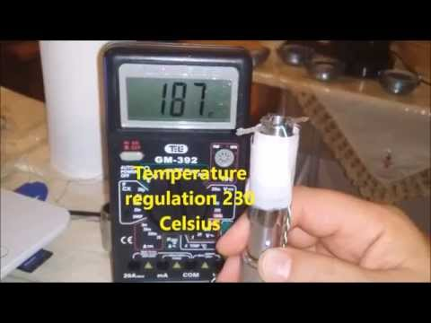 Temperature regulation in e-cigarettes: first measurements presented