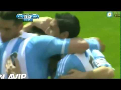 Hat-trick Lionel Messi / Argentina 4 - 3 Brasil / Amistoso Internacional / 09-06-12