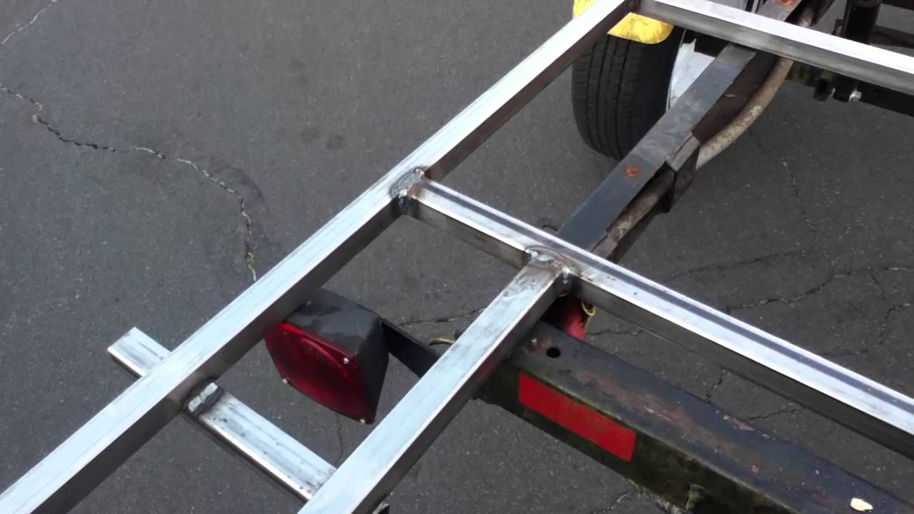 Boat Trailer to Flatbed Trailer Conversion Welding Project - YouTube