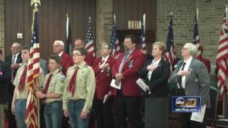 Veterans home celebrates flag day