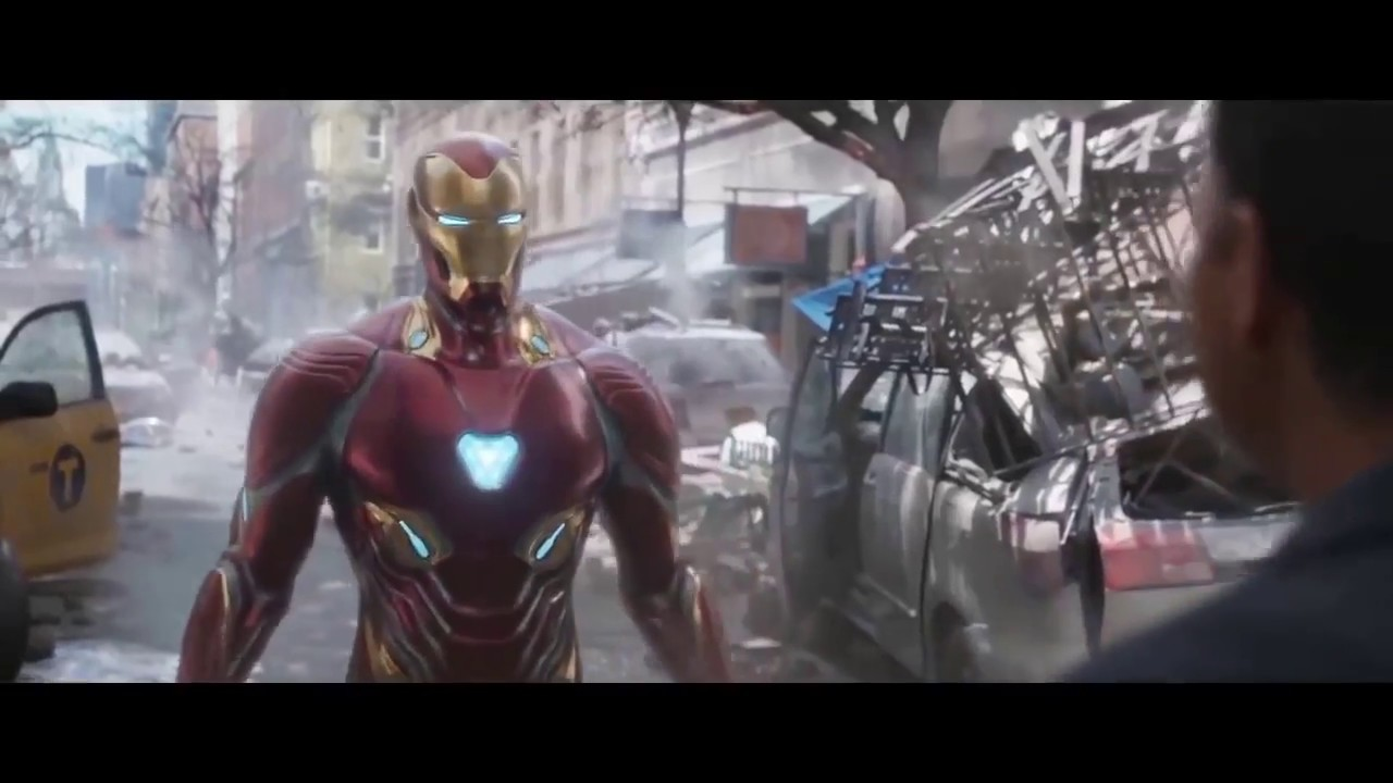 Download AVENGERS INFINITY WAR   Iron Man Dr. Strange and Wong Battle in New York HD
