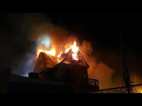 Fully Involved House Fire (Scotland Rd) Evac Tones W/FD Audio Orange NJ P-3 12-6-18