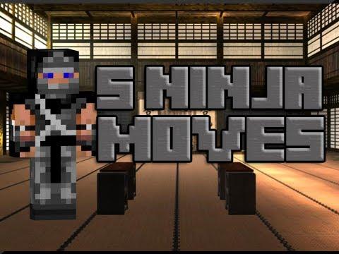 5 Ninja Moves in Minecraft - YouTube