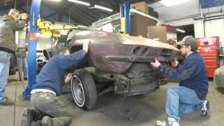 67 Vette Body Lift Off of Chassis