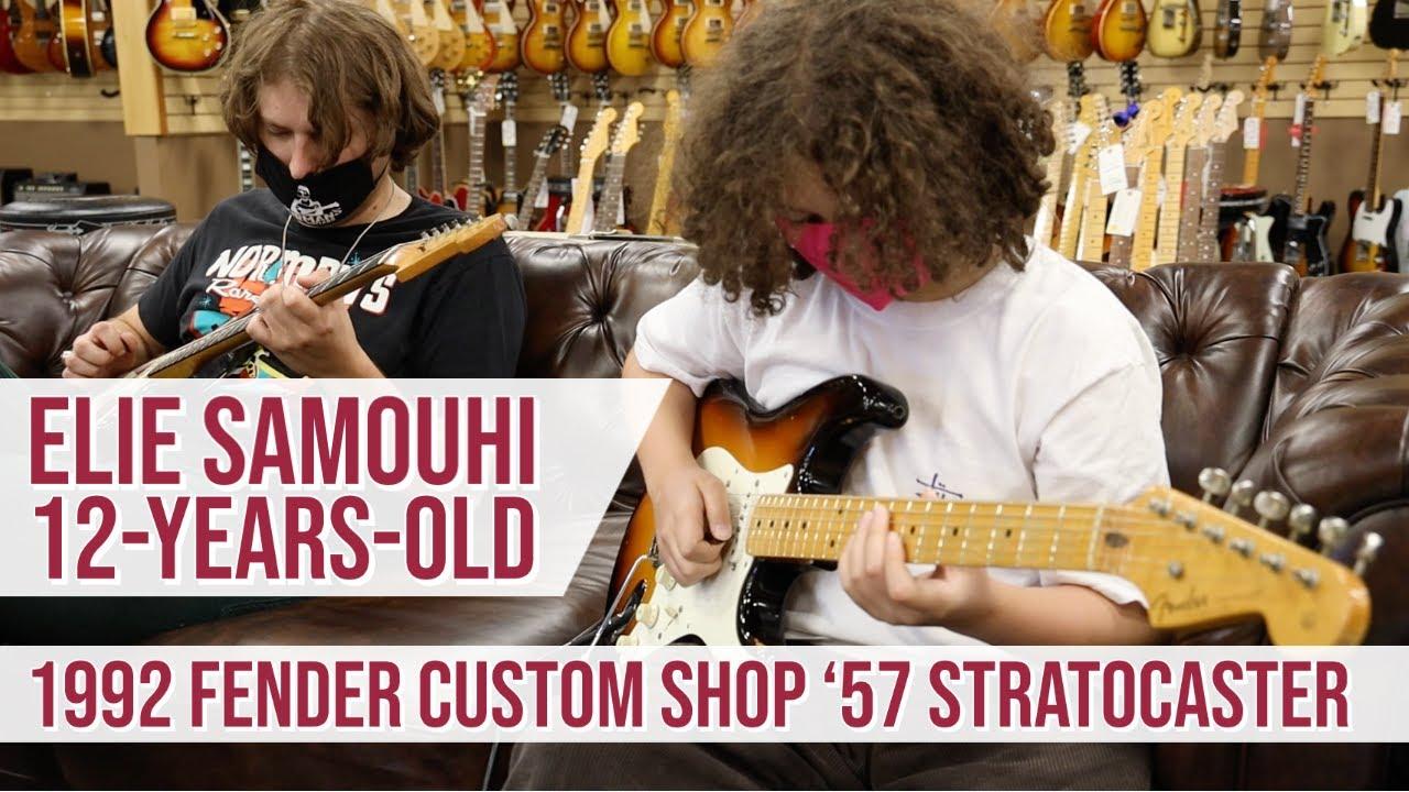 12-years-old Elie Samouhi & Lemmo   92 Fender Custom Shop '57 Stratoocaster & 1962 Fender Jazzmaster