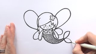 How to Draw a Cartoon Fairy Mermaid