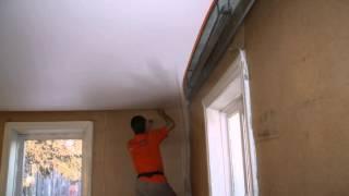 Парящий натяжной потолок, подсветка по периметру
