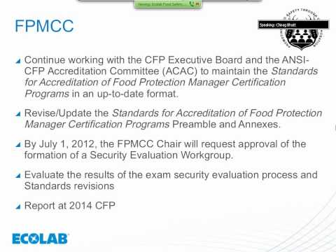 Ecolab May 2012 Food Safety Webinar