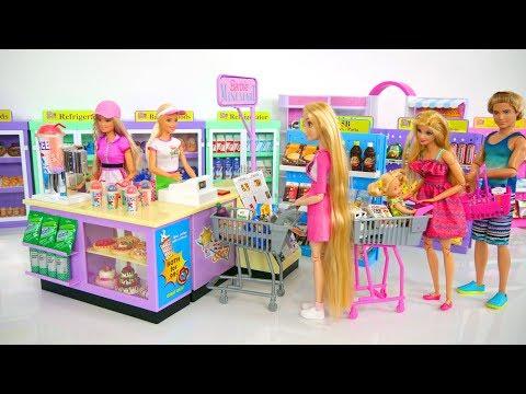 Barbie Doll Grocery Store Supermarket Mart Toy Supermarché de Poupée Puppe Supermarkt Toko kelontong