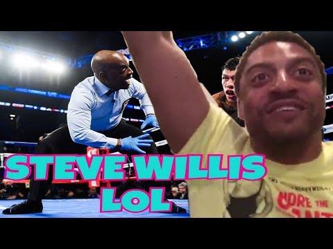 Steve Willis HILARIOUS Jamal Charlo vs Hugo Centeno FULL FIGHT (REACTION)!!!