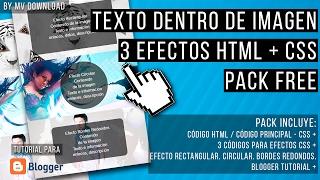 Texto sobre Imagen al pasar el mouse encima - 3 efectos CSS