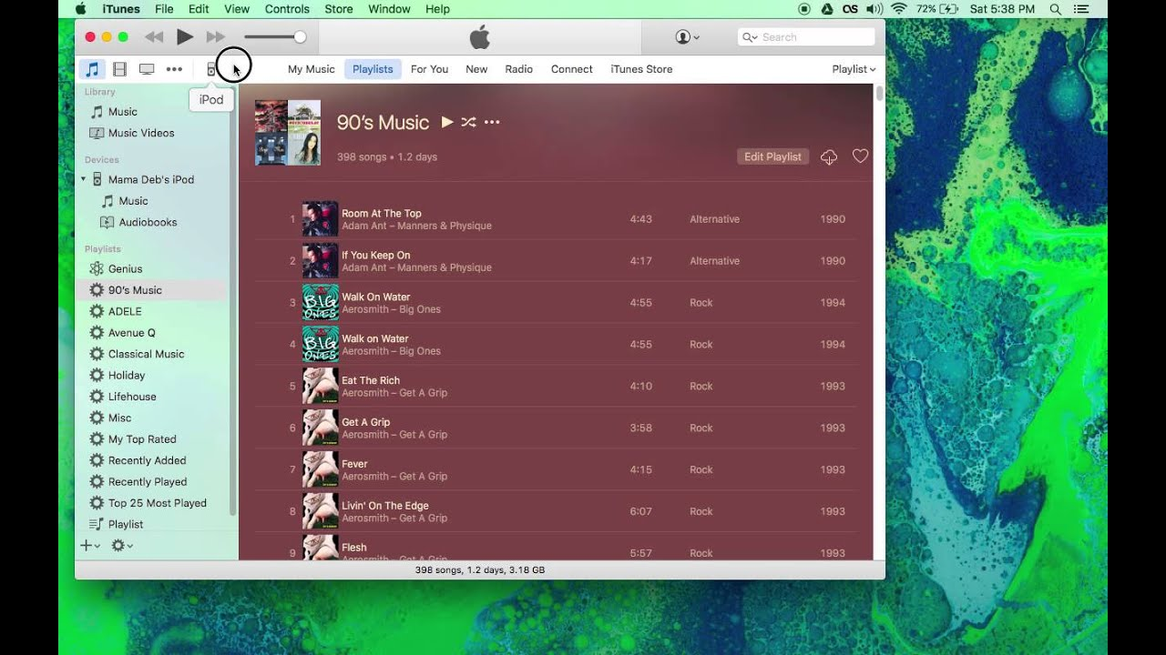 how to add playlist to ipod nano from itunes