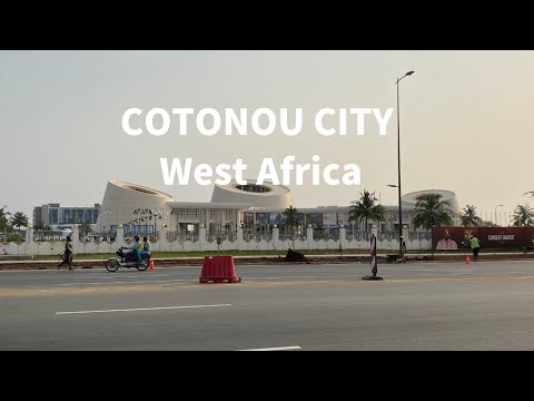 cotonou city 1--- driving in benin of west africa