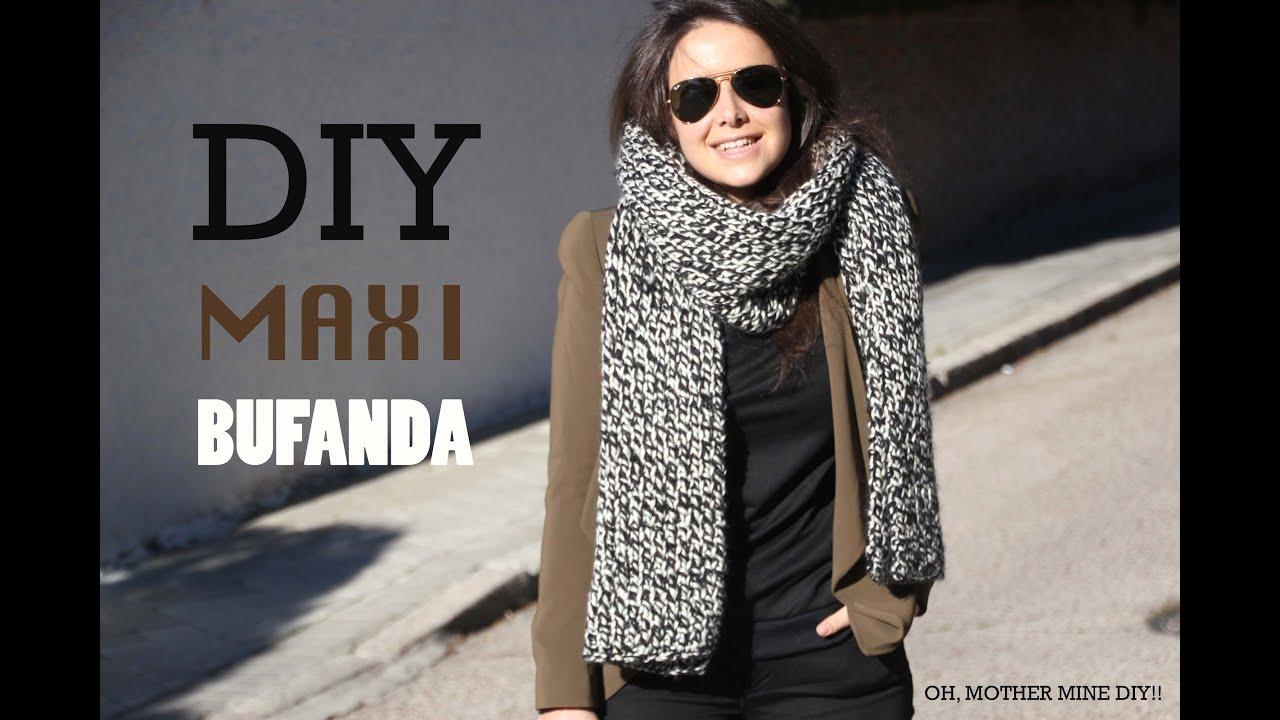 DIY Cómo hacer maxi bufanda de lana (patrones gratis) - YouTube