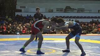 Спорт. Вольная борьба. Чемпионат Кыргызстана среди юниоров-2020. День 2 Мат B4