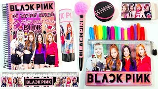 🌸🖤DIYS: BLACK PINK SCHOOL SUPPLIES K-POP|| Back to school 🖤🌸
