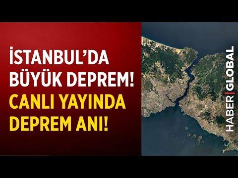 İstanbul'da Büyük Deprem! Canlı Yayında Deprem Anı!