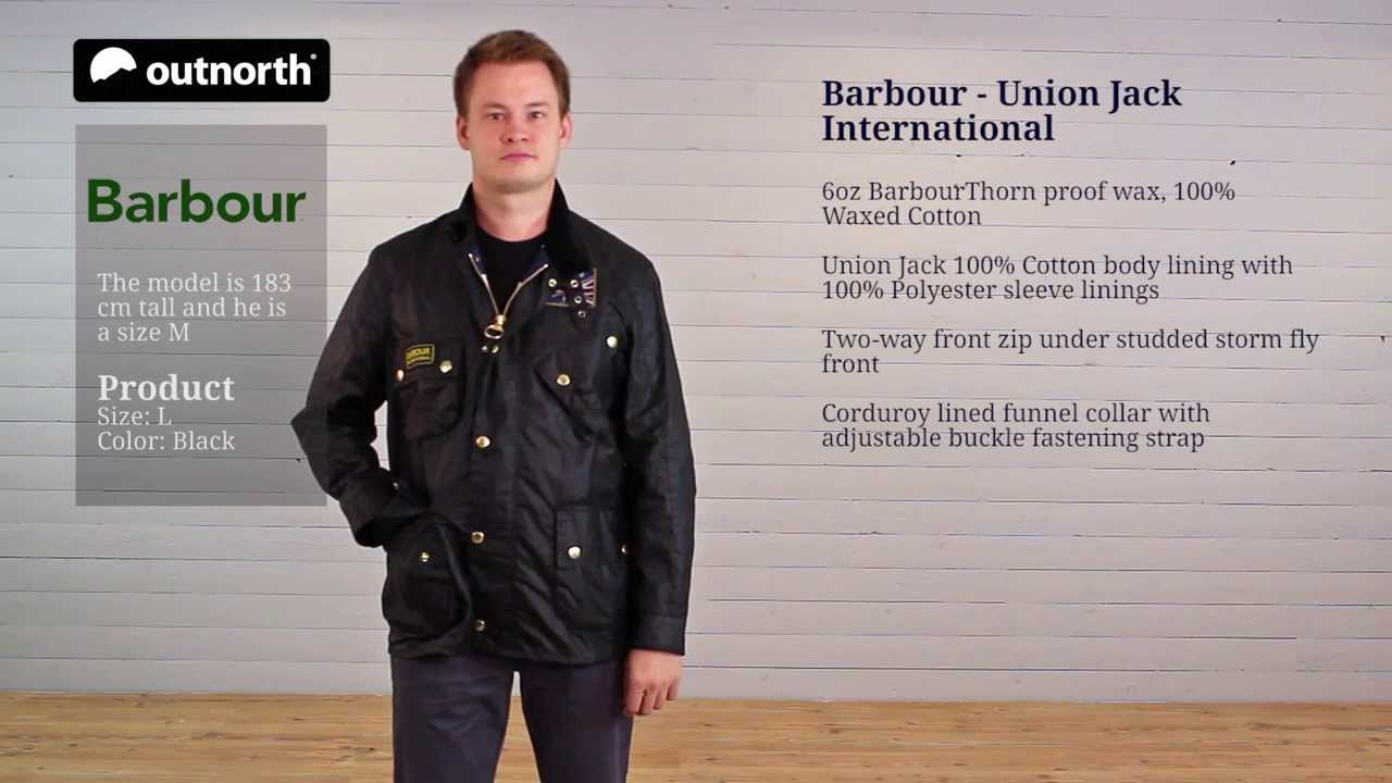 mens barbour wax jacket union jack