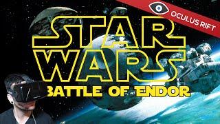 Star Wars Battle of Endor - Oculus Rift DK2 (Flying an X-Wing)