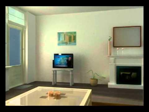 3d animatie woonkamer - YouTube