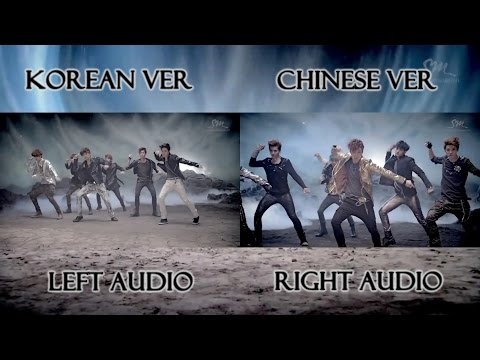 EXO - MAMA (Korean Chinese MV Comparison)