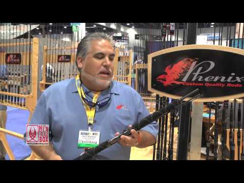 ICAST 2013 - Vince Borges showing Hi's Tackle Box the new Phenix Rods