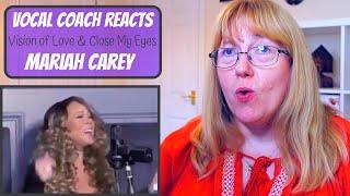 Download lagu Vocal Coach Reacts to Mariah Carey 'Vision of Love & Close My Eyes' Good Morning America 2020